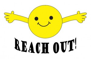Reach-out-symbol