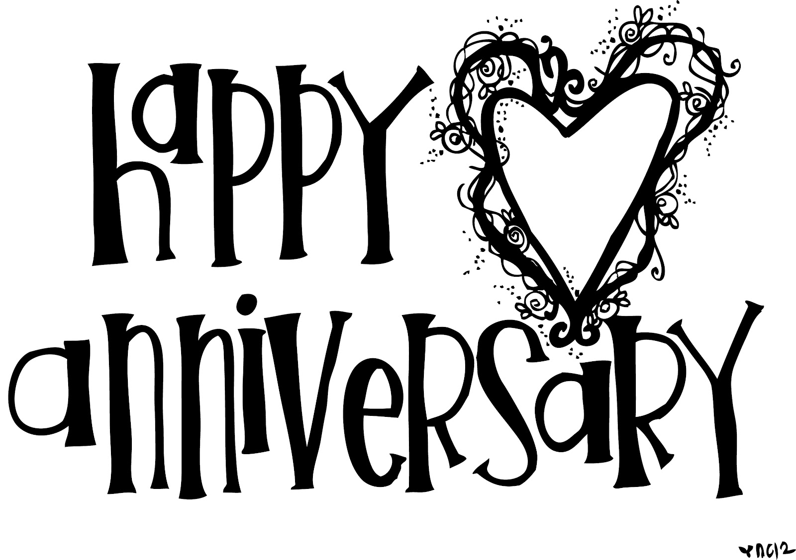 anniversary coloring pages - happy anniversary free coloring pages